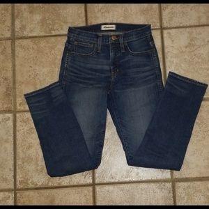 Madewell Slim straight Jeans 25 NWOT